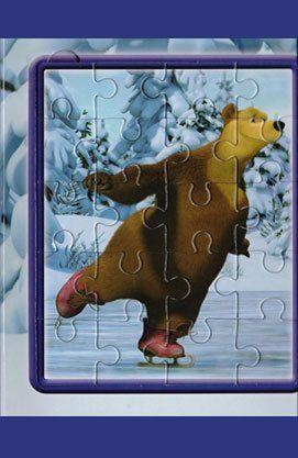 Маша і Ведмідь. На льоду. Мозаїка-малятко