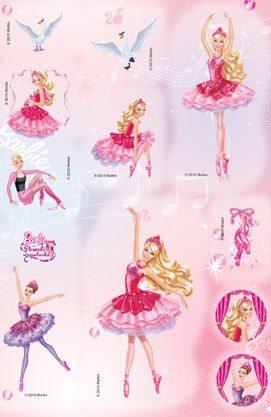 Розмальовка з наліпками. Барбі та рожеві черевички